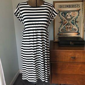 A Glow Striped Maternity Dress